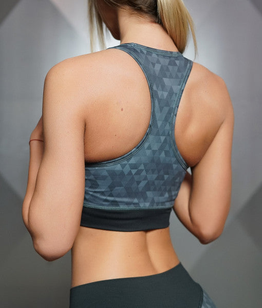 GEO Sports Bra – DARK GREY