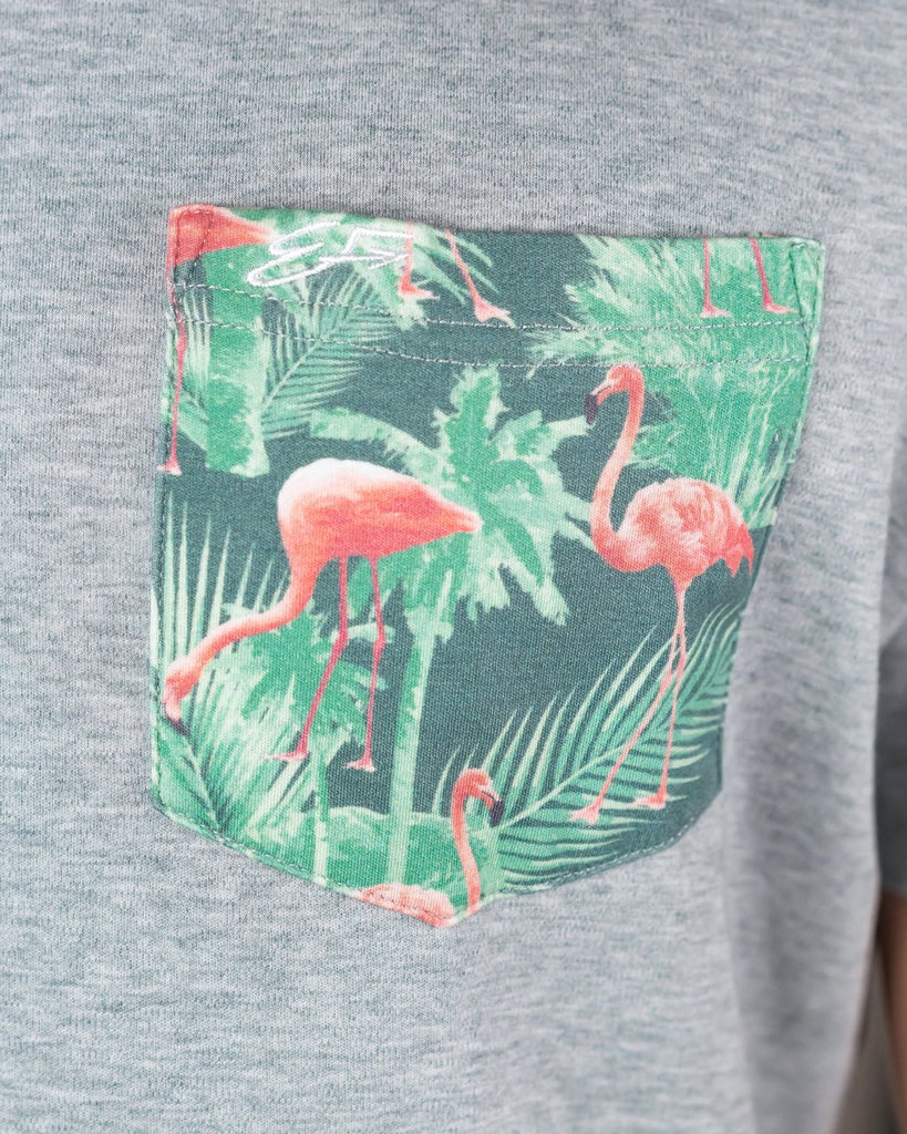 Pocket Tee - Flamingo