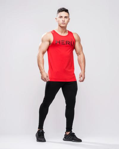 Primo Tank Top Red & Black