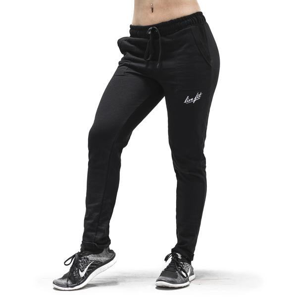 Women's Relaxed Joggers-Black