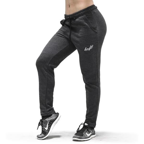 Women's Relaxed Joggers-Charcoal