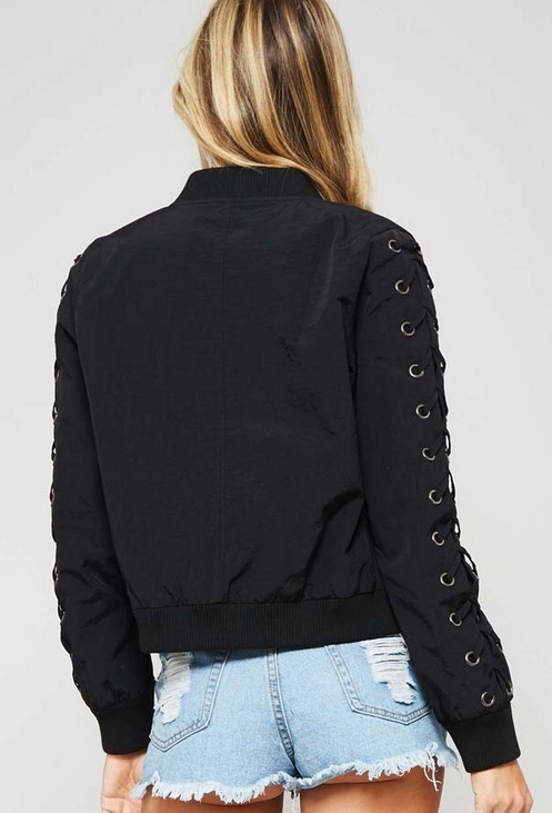 B3 Lace Up Bomber