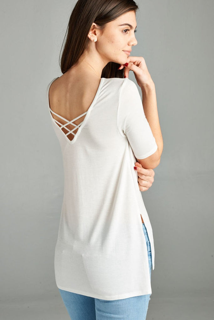 B3 Side Slit Jersey - White