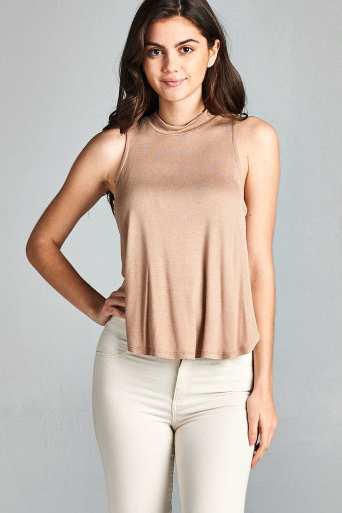 Tulip Sleeveless- Khaki