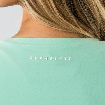 Keyhole Long Sleeve Crop Top - Mint