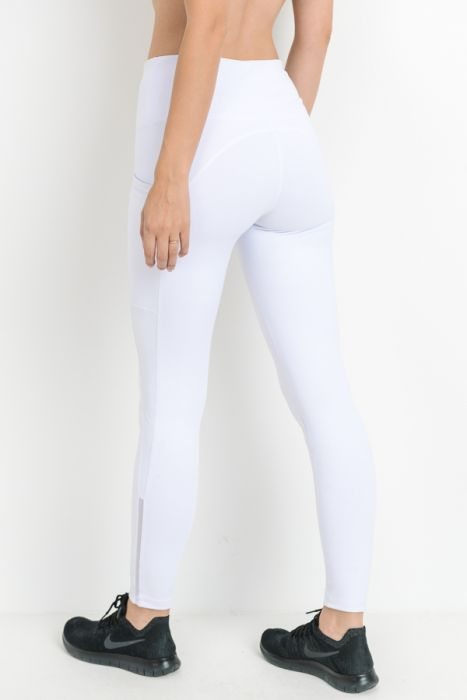 B3 Viola Slit Legging- White