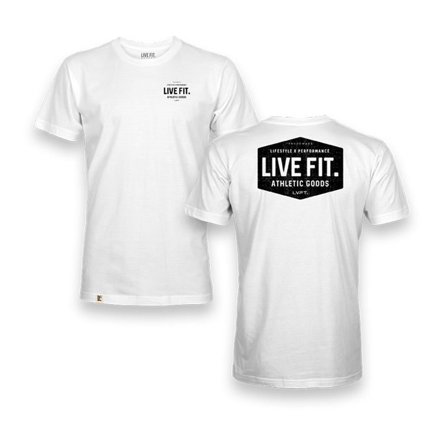Work Badge Tee - White