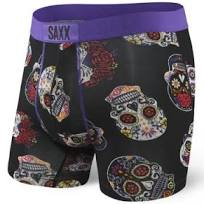 Vibe Boxer Brief- Day of the Dead Black