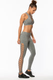 B3 Lace up Legging - Grey