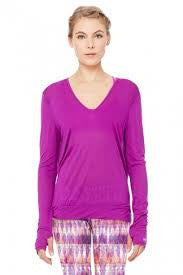 SMOKE LONG SLEEVE TOP-AMETHYST