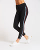 Le Mans High Waisted Legging - Black/Wine/Storm Blue