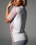 Olivia V- Neck- Dusty Rose/ White
