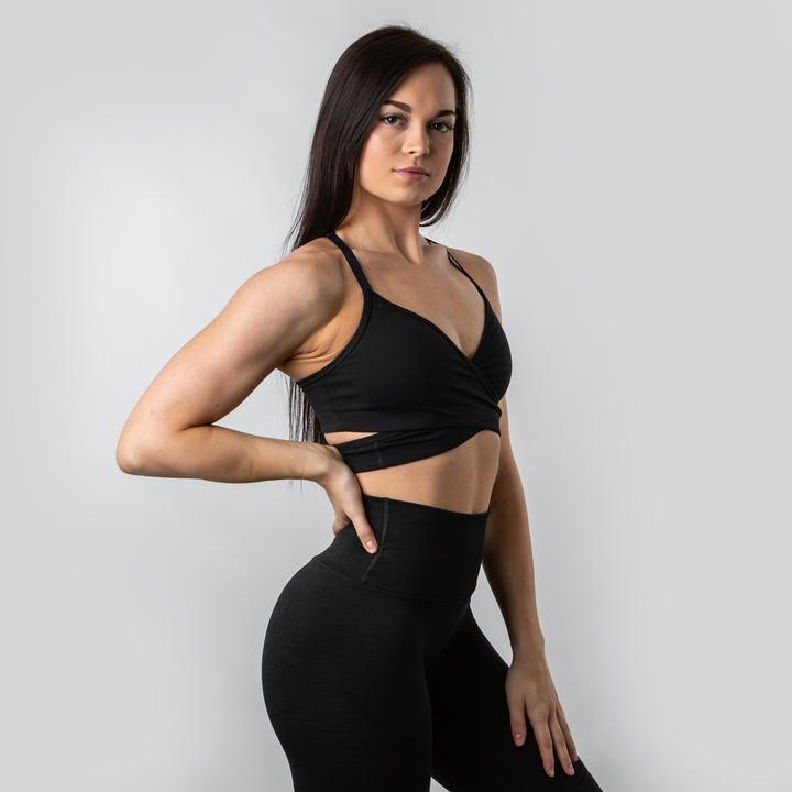 Wraparound Sports Bra (Updated Fit) Black
