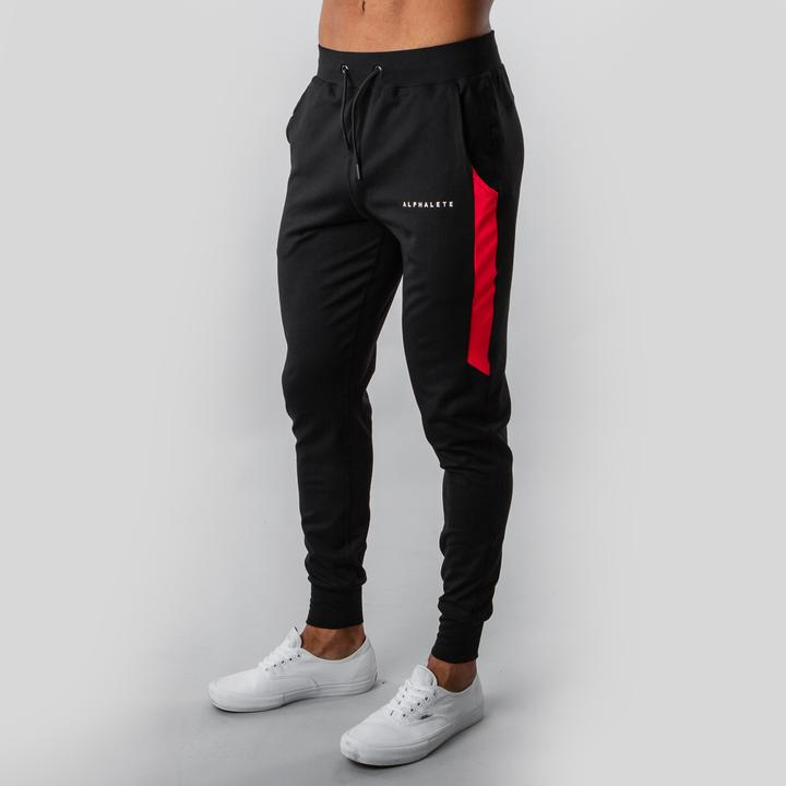 Premium Quad Jogger- Black/Red