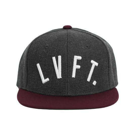 LVFT SNAPBACK-Dark Grey/ Burgundy
