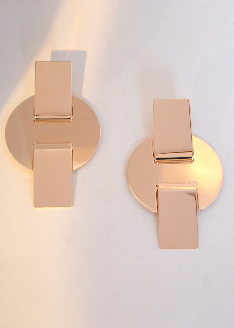 Cross Disc Earrings