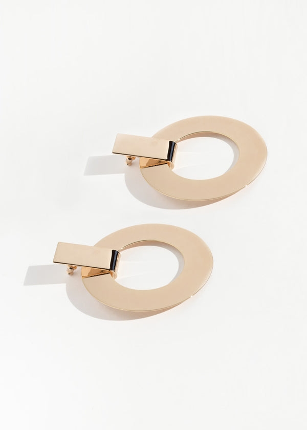 Open Circle Gold Earrings