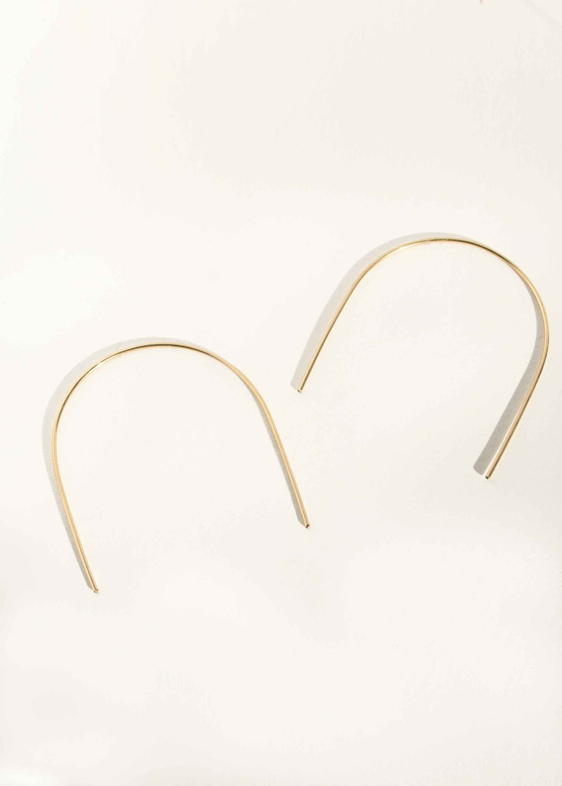 Open Arch Hoop Earrings