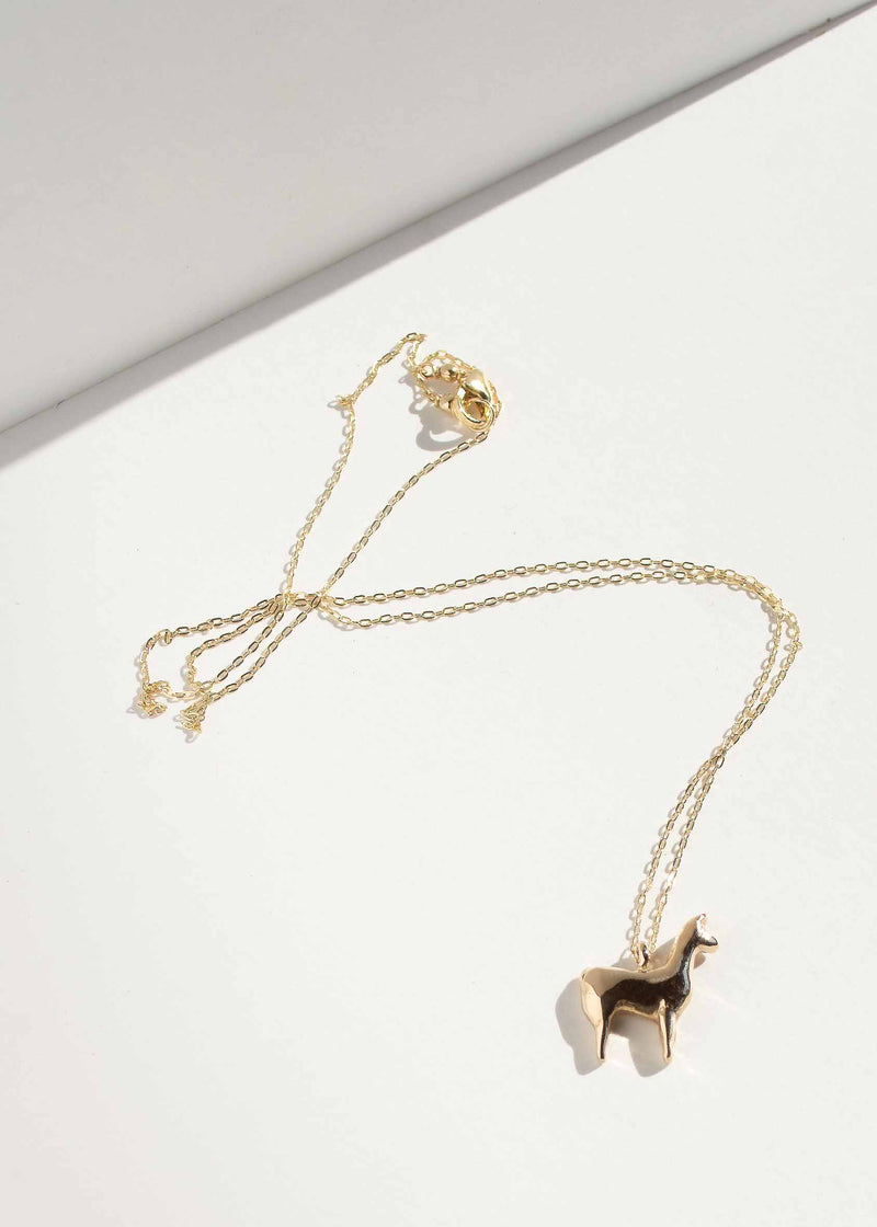 Tiny Llama Necklace