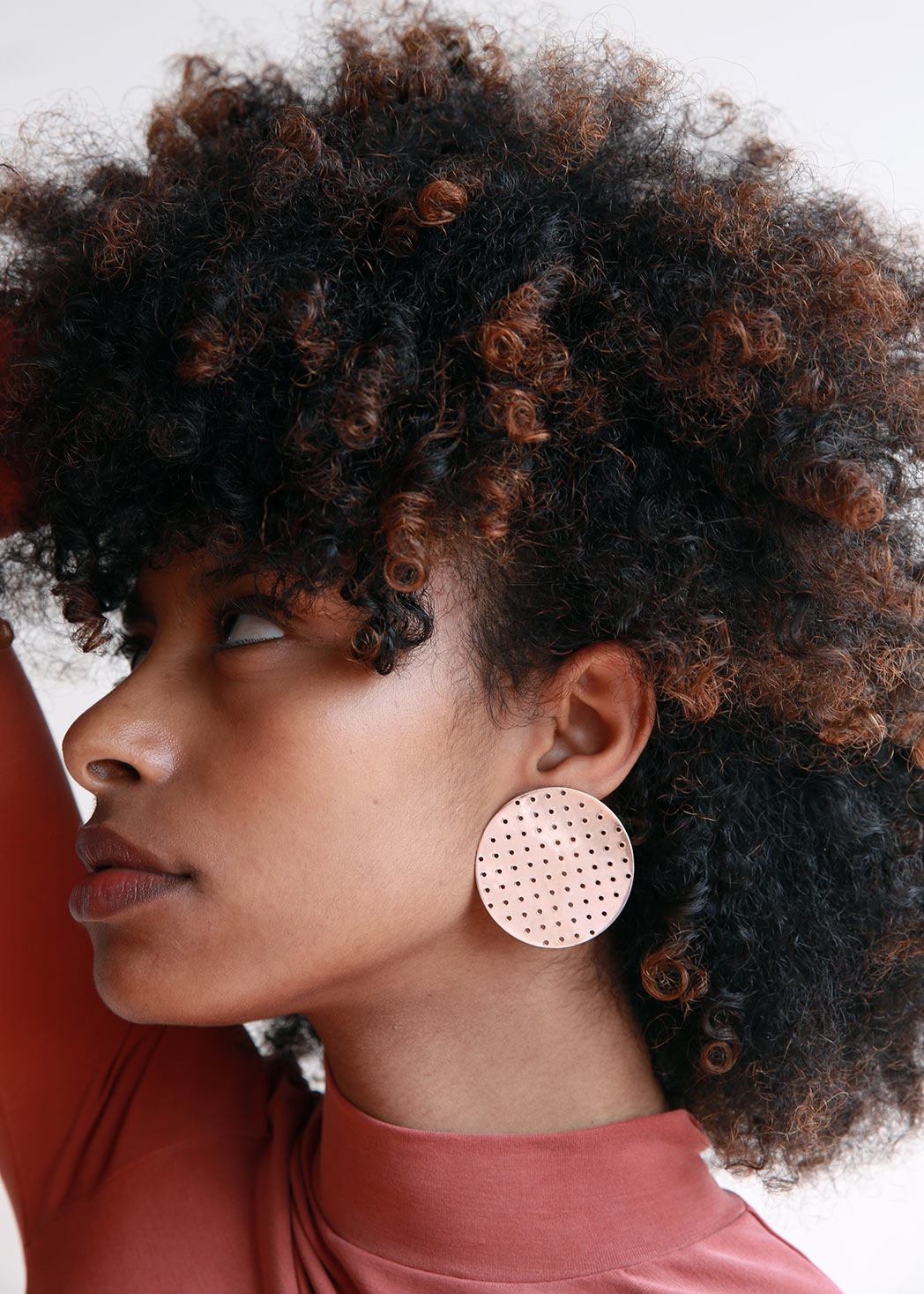 Perforated Disc Earrings