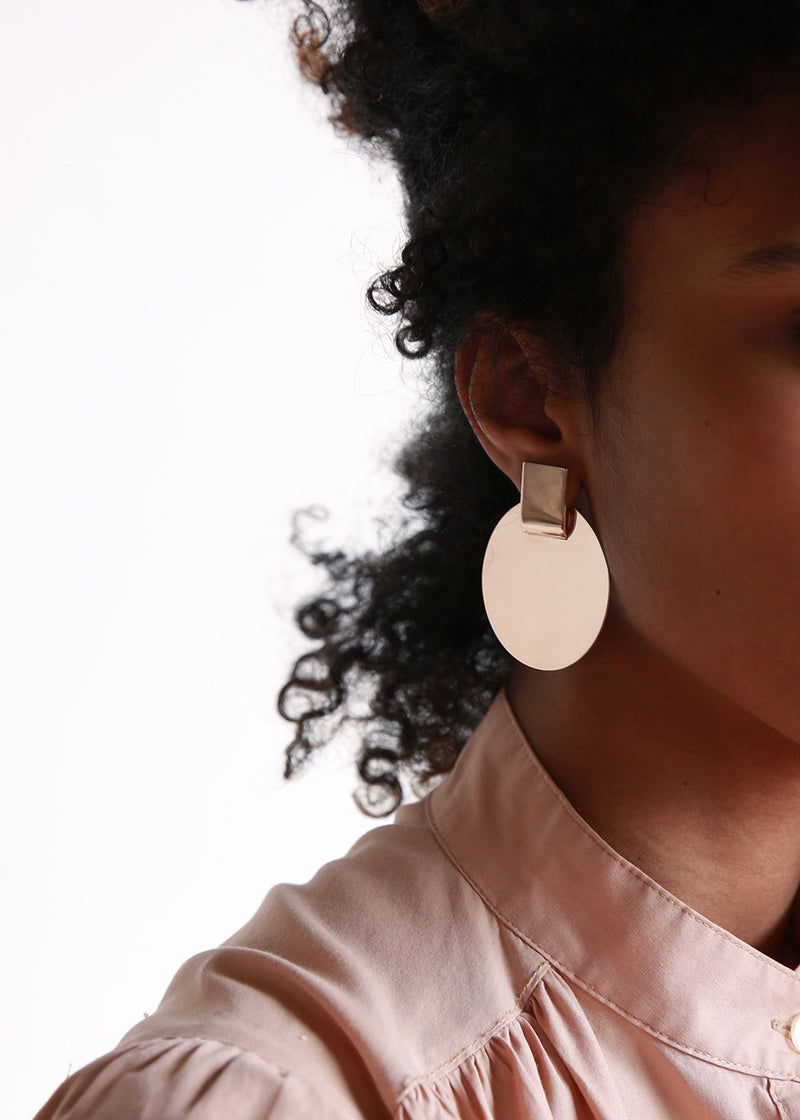 Suspended Disc Modular Earrings