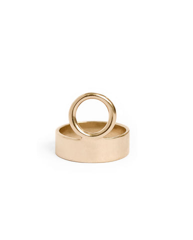 Holding Space Ring-bronze gold