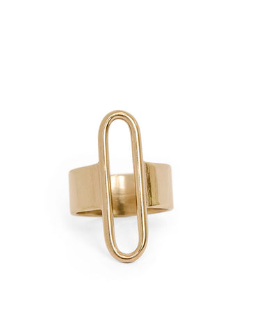 Parallel Ring-bronze gold