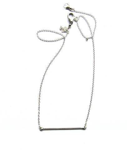 Tiny Bar necklace-silver