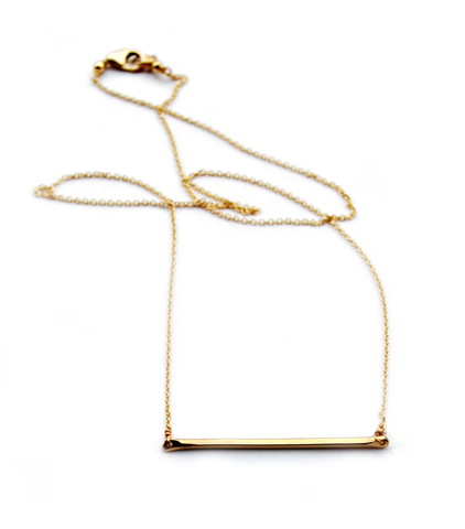 Tiny Bar necklace-gold