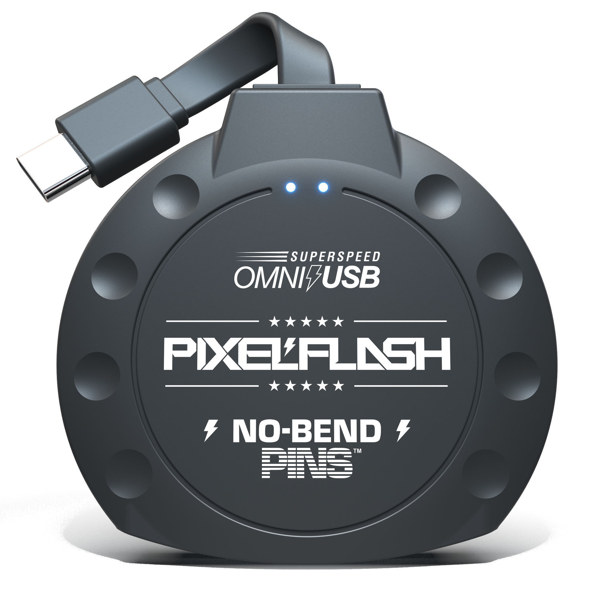 "No-Bend Pins™ USB 3.1 Type-C | 1"" Cabled CF Reader"