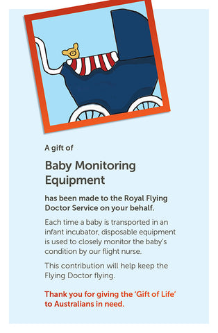 'Gift of Life' card: Baby Monitoring Equipment