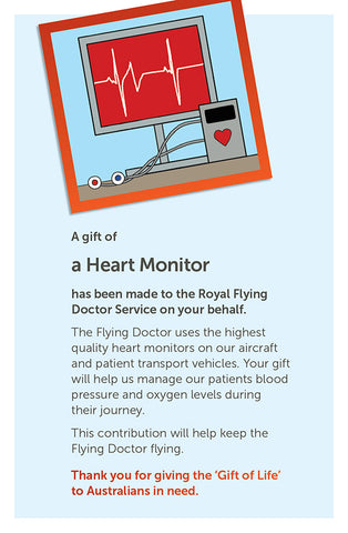 'Gift of Life' card: Heart Monitor