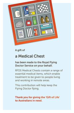'Gift of Life' card: Medical Chest