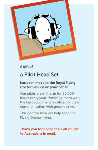 'Gift of Life' card: Pilot Head Set