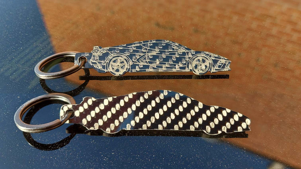 Carbon fiber for all! The lower cost Silhouette keychain collection