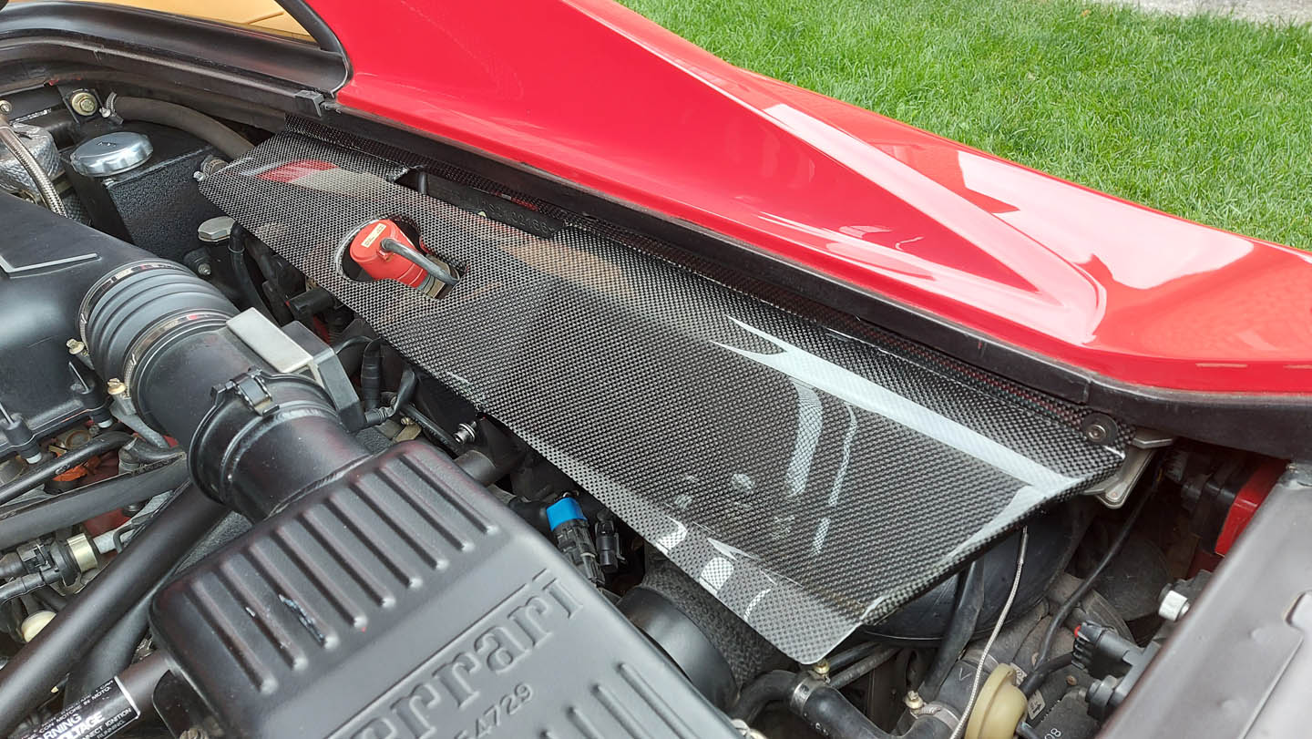 F355 Carbon fiber lateral panels