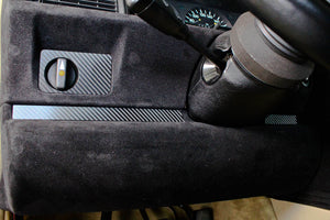 Knee bolster - Carbon fiber trim