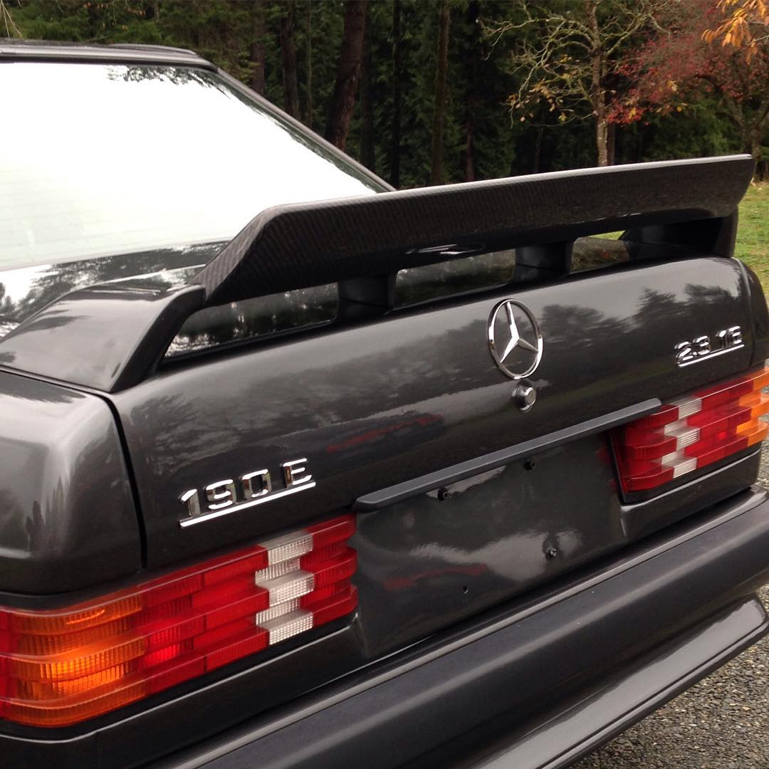 Black 190E with the STEVS Crown carbon fiber wing extension
