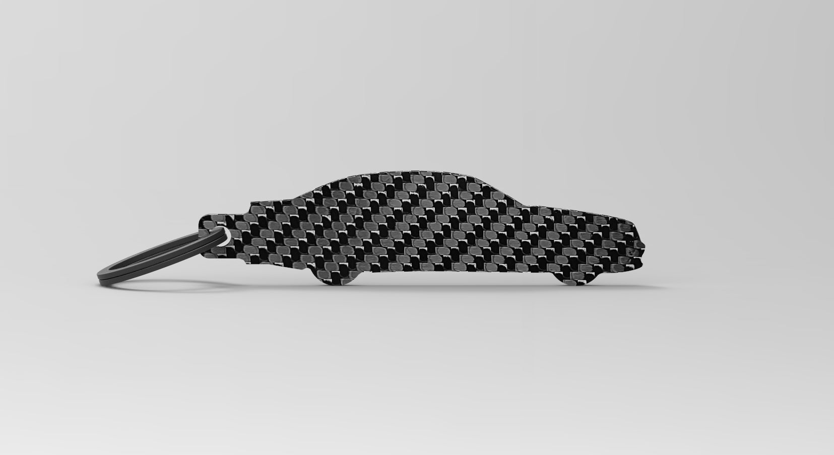 E55 AMG (W211) silhouette carbon fiber keychain
