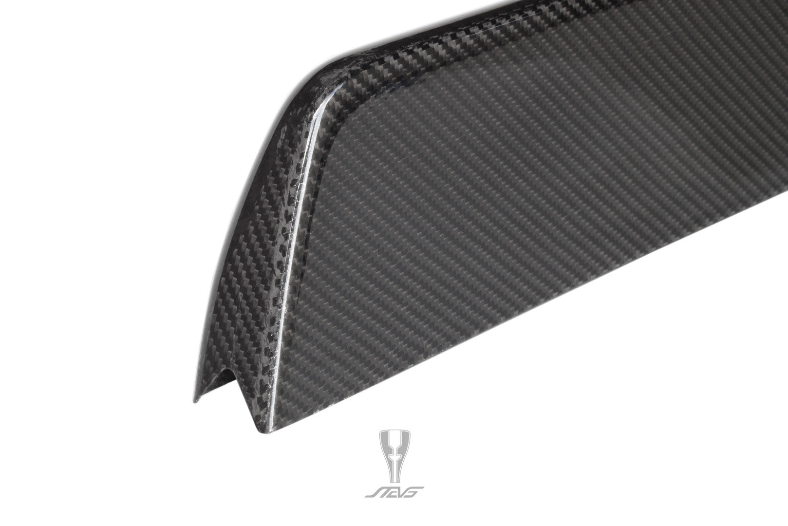 STEVS Crown carbon fiber wing extension, front angle detail view