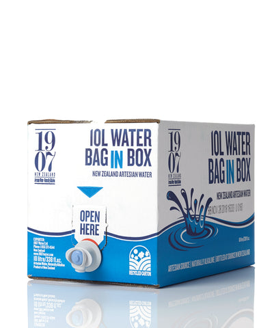 1907 New Zealand Artesian Water 10 litre bag in a box