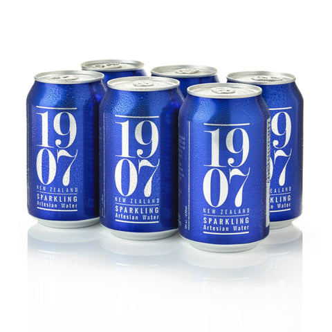 1907 New Zealand Sparkling Artesian Water 330ml - 24 cans