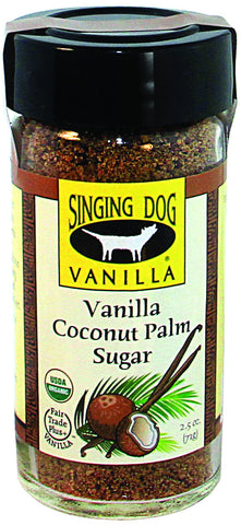 Organic Vanilla Coconut Palm Sugar, 71g  DISCOUNTED PRICE