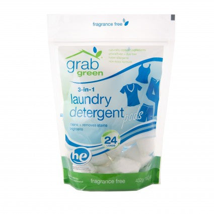 3-in-1 Laundry Detergent Fragrance Free 24 pod *PRICED TO CLEAR*