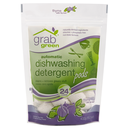 Automatic Dishwasher Detergent Thyme with Fig Leaf 24 pods *PRICED TO CLEAR*