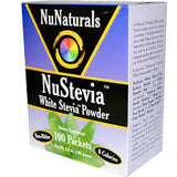 NuStevia, White Stevia Powder, 100 Packets