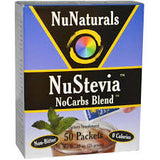 NuStevia, White Stevia NoCarbs Blend, 50 Packets
