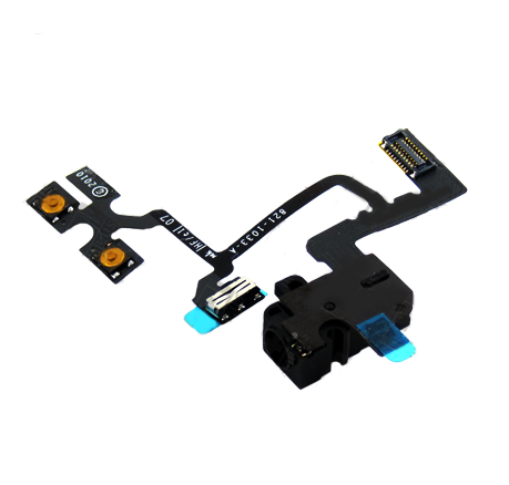 iPhone 4 GSM Headphone Audio Jack Ribbon Flex Cable - Black