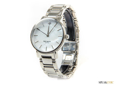Reloj  Kate Spade Gramercy Grand Silver and Mother of Pearl Dial
