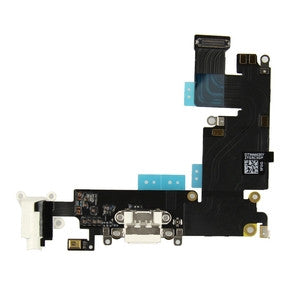 iPhone 6 Plus (5.5) Charging Port Flex Cable White